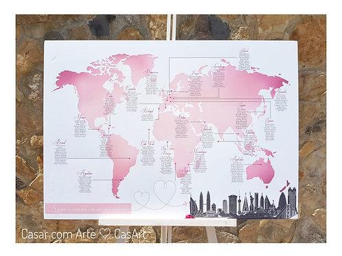 Placard Mapa Mundo