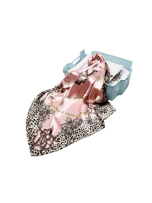 Pink Lady Satin Night Wrap