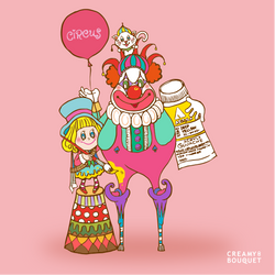 Lucy and clown