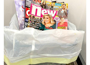 We have binned the gossip magazines!