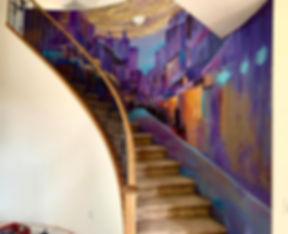 New Orlean Bourbon st. Surrealist Mural