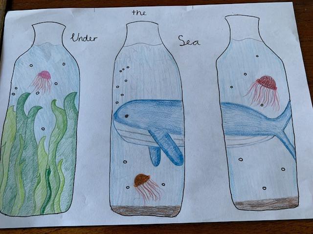 Jasmine Scholey water bottle design