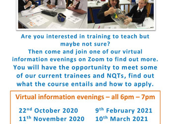 'Train to Teach' Information Evenings