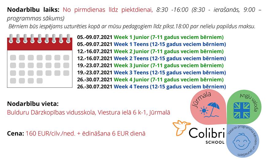 Flying Colours 2021 calendar