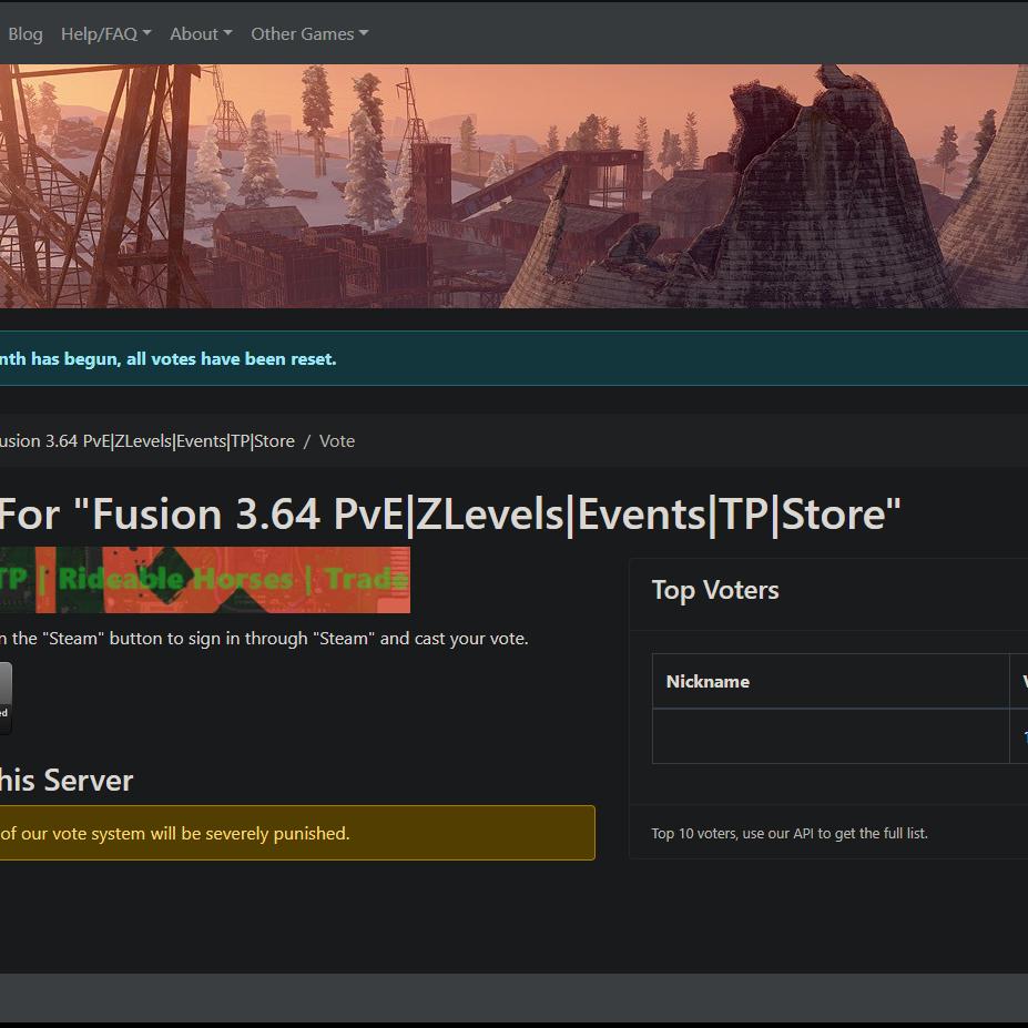 Fusion 3 64 Network Rust Servers