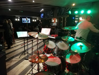 A view of the drummer