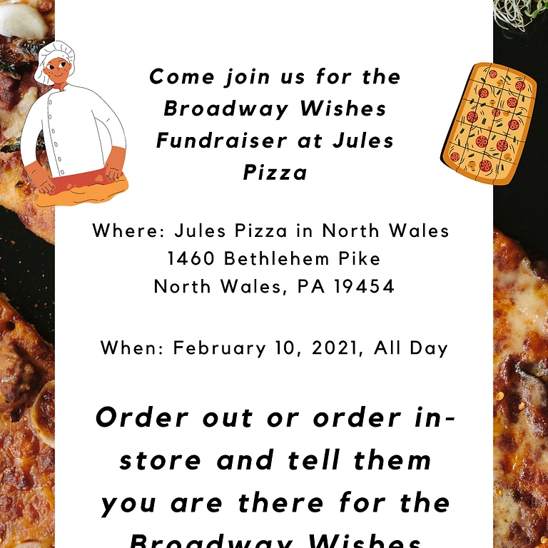 Jules Pizza Fundraiser
