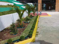 Clube ganha novos jardins.