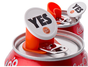 Promotional logo on cans
