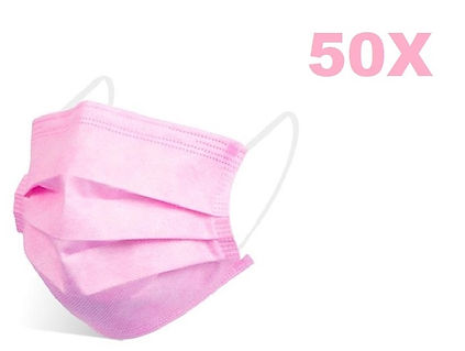 disposable-protective-face-mask-50x-pink
