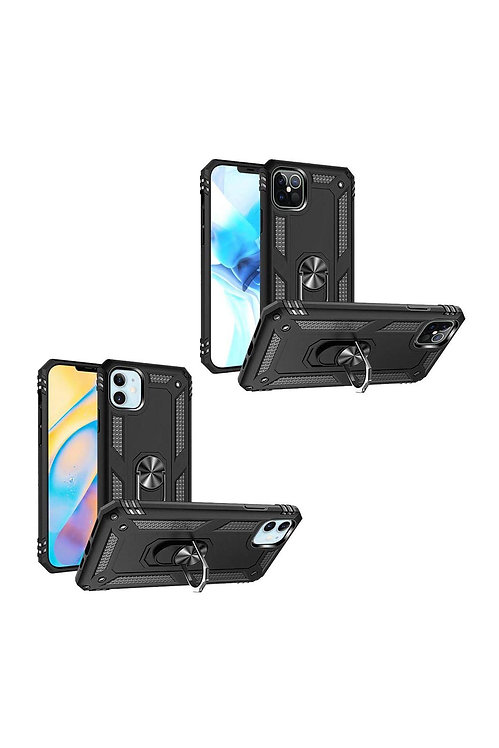 IP126.1 - iPHONE 12Pro (6.1 ONLY) RING MAGNETIC KICKSTAND HYBRID CASE COVER