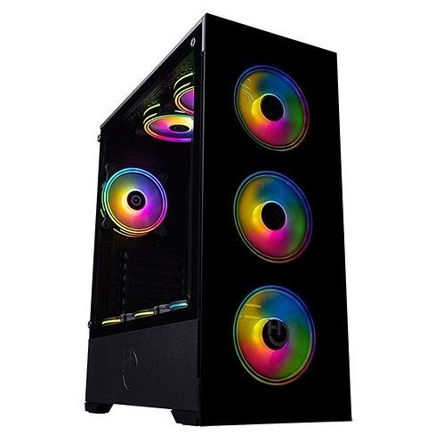 ΚΟΥΤΙ ΜΕΣΑΙΟΥ ΠΥΡΓΟΥ MICRO ATX/ATX HIDITEC CHA010023 RGB LED