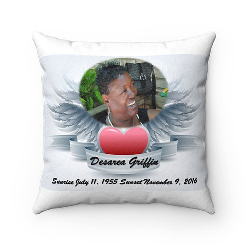 Family Memory - Faux Suede Square Pillow
