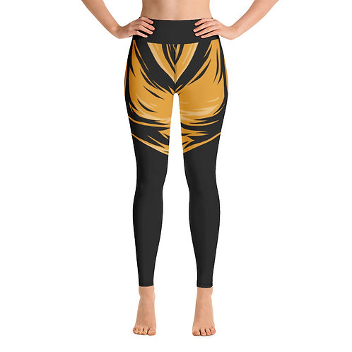I'm Different Yoga Leggings -  Black & Gold
