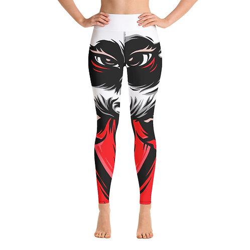 I'm Different Yoga Leggings - Red & Black