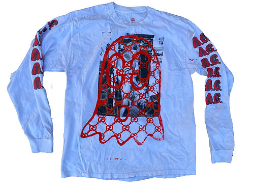 Allin Ghost Long Sleeve T-Shirt  White - Large