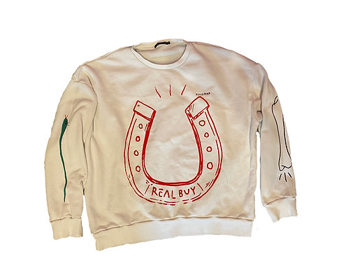 Real Buy Horse Shoe Sweatshirt  - Large