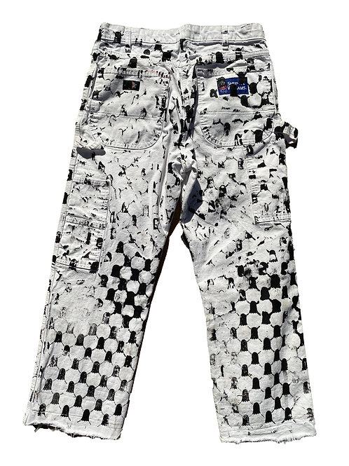 Hand Screenned Ghost Pants - 32/30