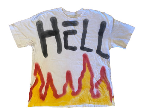 Hell T-Shirt  White - Large