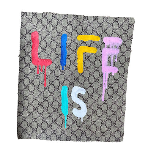 Life Is Hand Painted  Fabric 1 of 1