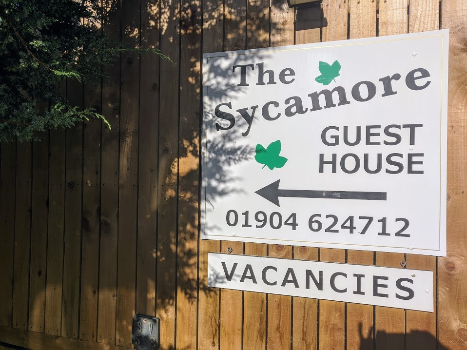 The Sycamore Guest House.