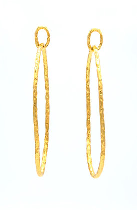 Oval Hoops -Large Gold