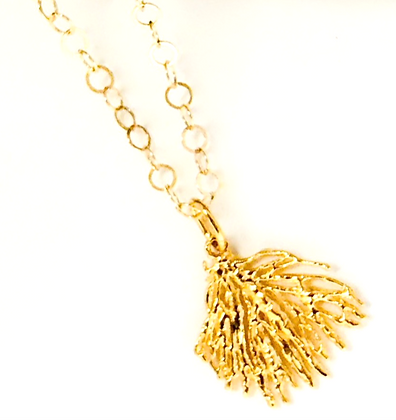 Small Gold Coral Necklace