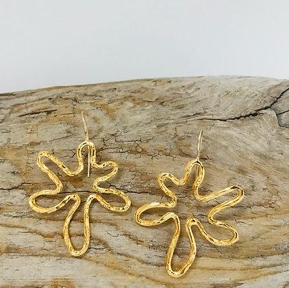 Gold Signature Flower Earrings
