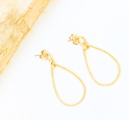 Small Gold Teardrop Earrings