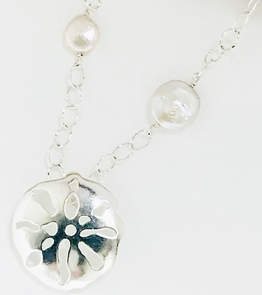 Sand Dollar & Coin Pearl Necklace