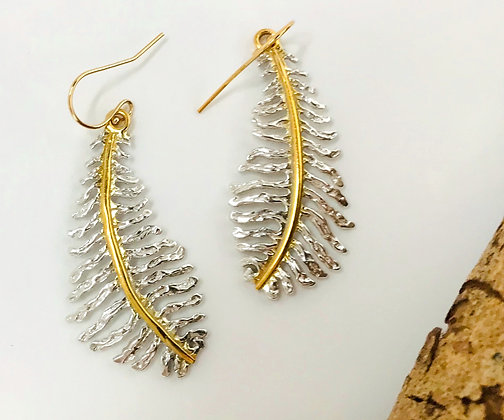 Fern Leaf Earrings -Medium