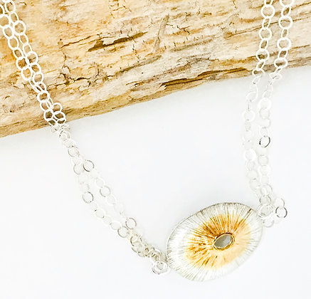 Two Tone Limpet Shell Necklace