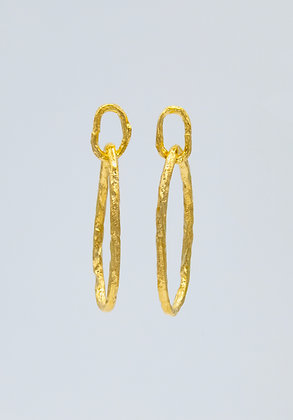 Oval Hoops- Gold Medium