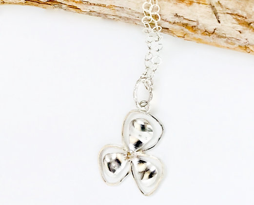 Small Silver Bali Flower Necklace