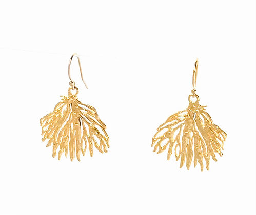 Small Gold Coral Earrings