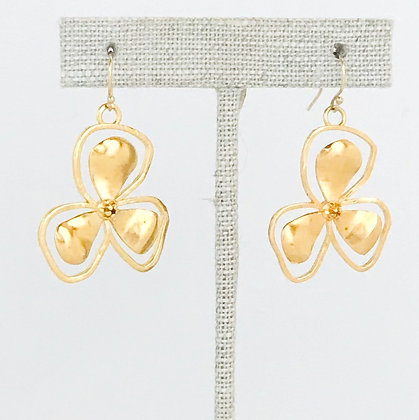 Small Gold Bali Flower Earring