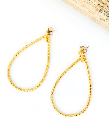 Large Gold Teardrop Earrings