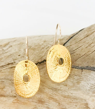Gold Limpet Shell Earrings