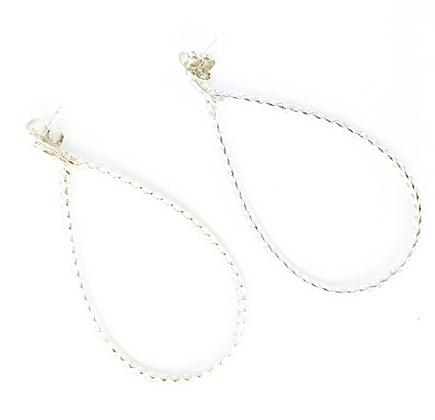 Medium Silver Teardrop Earrings