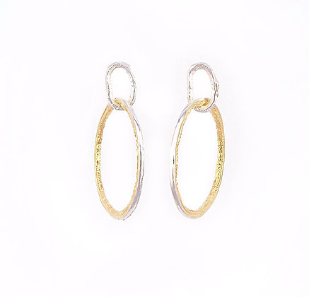 Two Tone Hoops - Small