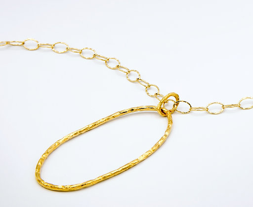 Gold Oval Pendant