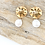 Thumbnail: Gold Sand Dollar Earrings with Pearl