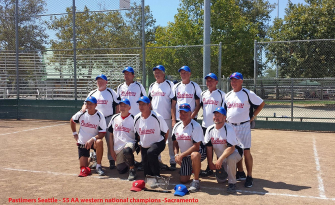 Pastimers 55's 'AA' Champions 2014 SSUSA Western Nationals Scaramento, CA