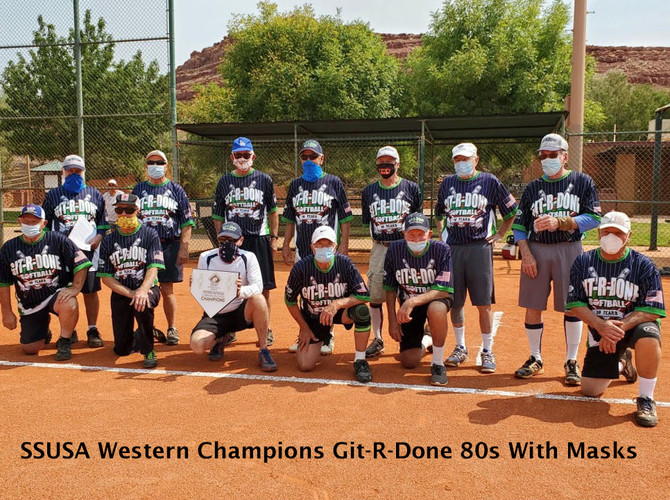 SSUSA Western Champions Git-R-Done 80s With and With Masks 2020
