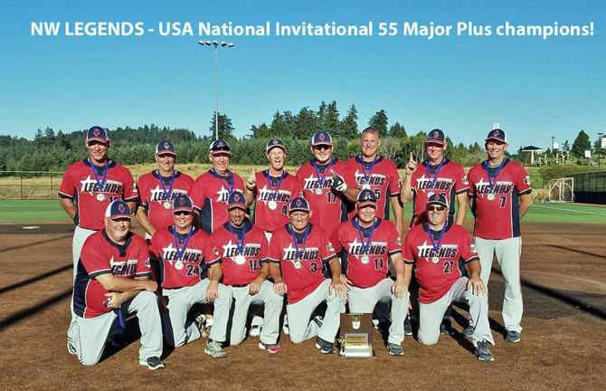 NW LEGENDS - USA National Invitational 55 Major Plus champions @ Hood View Park 2018