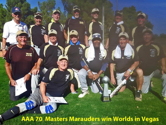 AAA 70  Masters Marauders win Worlds in Vegas 2018