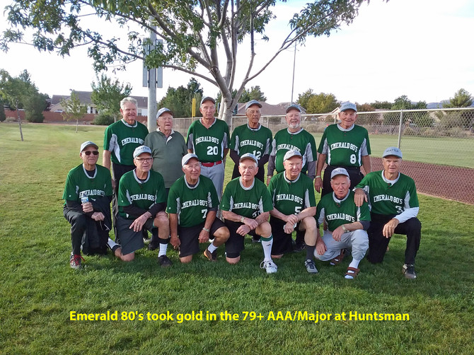 Emerald 80's took GOLD in the 79+ AAA/Major at Huntsman St. George 2018