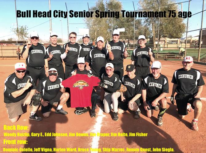 2020 NW Exhumed Win Bull Head City Senior Spring Tournament 75 age bracket