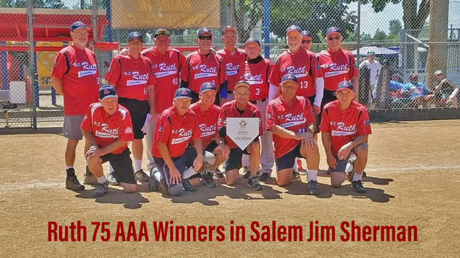 """Ruth 75 AAA Take Home 1st Place in Salem """"Jim Sherman"""" 2021"""