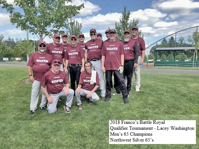 2018 Franco's Battle Royal Qualifier Tournament - Lacey Washington  Men's 65 Champions  Northwest Si